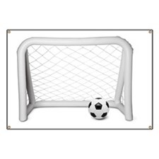 Inflatable football / soccer goal with foot Banner