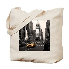 Time Square Taxi Tote Bag