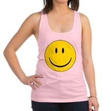 happy face - smiley Racerback Tank Top