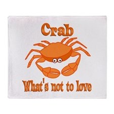 Crab to Love Throw Blanket