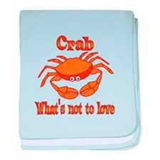 Crab to Love baby blanket