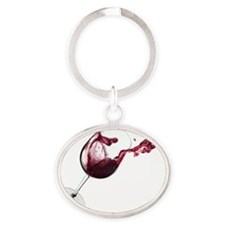 winesplash  Oval Keychain
