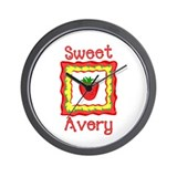 Sweet Avery Wall Clock