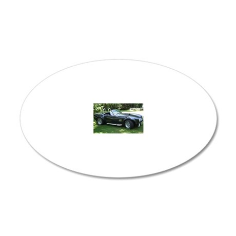 cobra sports car 20x12 Oval Wall Decal