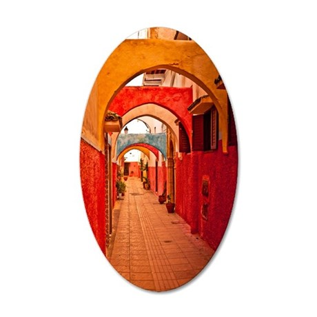 Colorful passageway, the Old 35x21 Oval Wall Decal