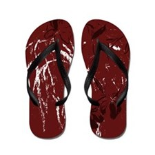 abstract maroon Flip Flops