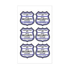 Security Alarm Stickers (Rectangular)