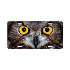 Eagle owl eyes Aluminum License Plate
