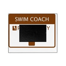 Swim Coach Powered by Coffee Picture Frame