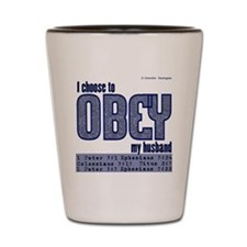 Choose to Obey BLUE Shot Glass