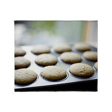 Baking cupcakes at home Throw Blanket