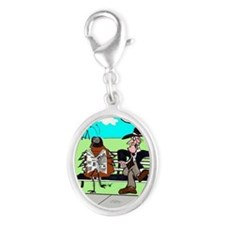 Kafka  The Roach Silver Oval Charm