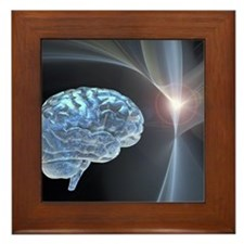 Brain research, conceptual artwork Framed Tile