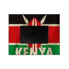 Kenya Fabric Flag Picture Frame