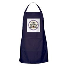 Saint Bernard Dog Mom Apron (dark)