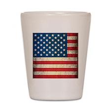 Vintage USA Flag Shot Glass
