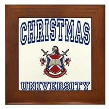 CHRISTMAS University Framed Tile