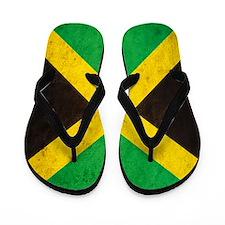 Vintage Jamaica Flag Flip Flops
