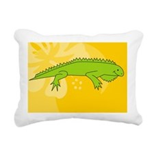 Iguana Oval Car Magnet Rectangular Canvas Pillow