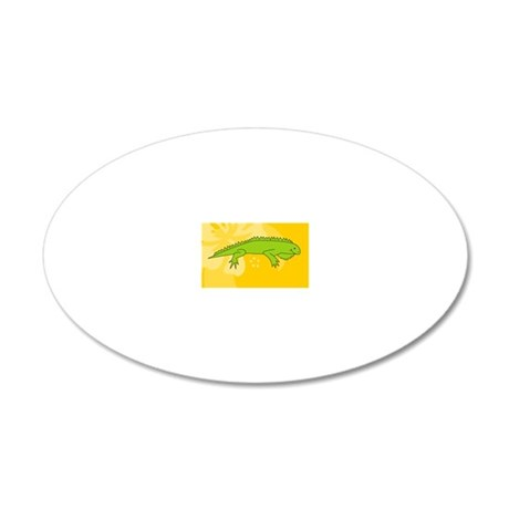 Iguana Oval Car Magnet 20x12 Oval Wall Decal