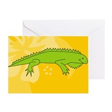 Iguana Oval Car Magnet Greeting Card