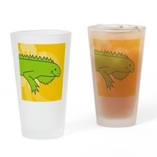 iguana Round Coaster Drinking Glass