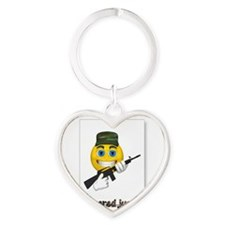 When Disasters Happen Heart Keychain