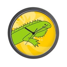 Iguana Round Car Magnet Wall Clock