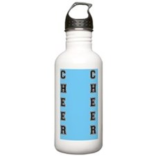 Cheer Blue and Black Water Bottle