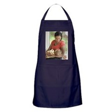 Mother breast feeding child Apron (dark)