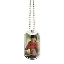 Mother breast feeding child Dog Tags