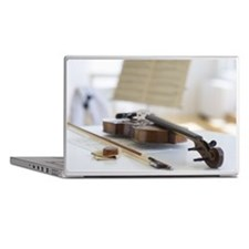 Violin and sheet music Laptop Skins