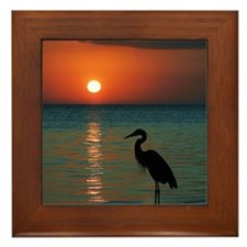 Meditation At Sunset Framed Tile