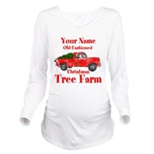 Custom Tree Farm Long Sleeve Maternity T-Shirt