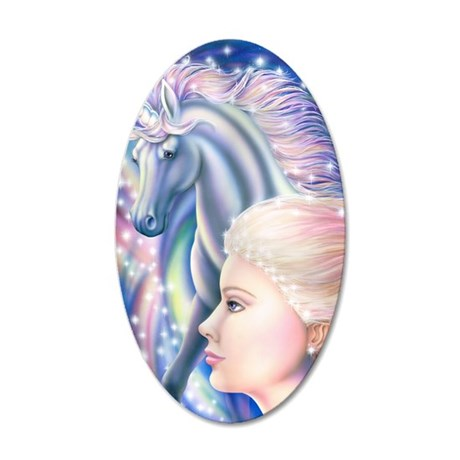 Unicorn Princess 16x20 35x21 Oval Wall Decal
