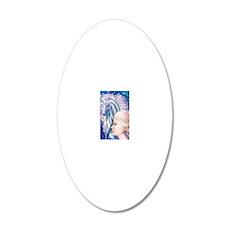 Unicorn Princess 16x20 20x12 Oval Wall Decal