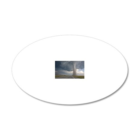 Baca / Campo tornado 20x12 Oval Wall Decal