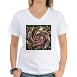 K9 Flower #6 Women's V-Neck T-Shirt