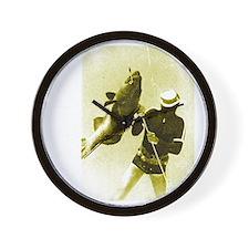 Aqua Culture Spearing Grouper Wall Clock