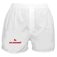 Ox are awesome Boxer Shorts