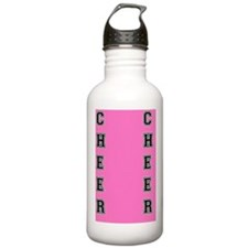 Cheer Pink and Black Water Bottle