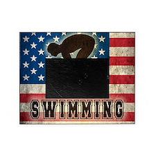 Grunge USA Swiumming Picture Frame