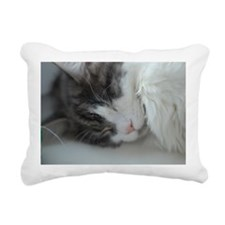 Maine coon cat sleeping Rectangular Canvas Pillow