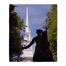 Boston-Paul Revere Silhouetted & Old Throw Blanket