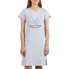 I kissed a poodle Women's Nightshirt