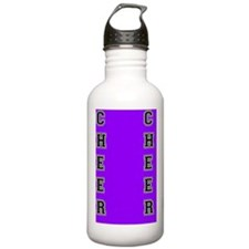 Cheer purple and black Water Bottle