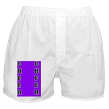 Cheer purple and black Boxer Shorts