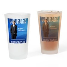 Courage: Make a Difference. Drinking Glass