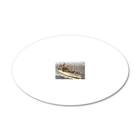 uss vesuvius rectangle magne 20x12 Oval Wall Decal