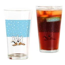 snowbeaglekeychain Drinking Glass